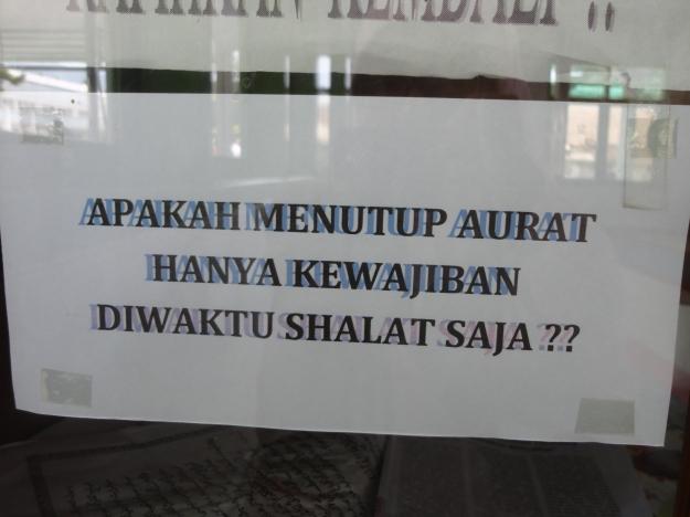 Tulisan yang tertempel di Masjid Al-Kautsar, Pertamina Geothermal Energy Area Kamojang